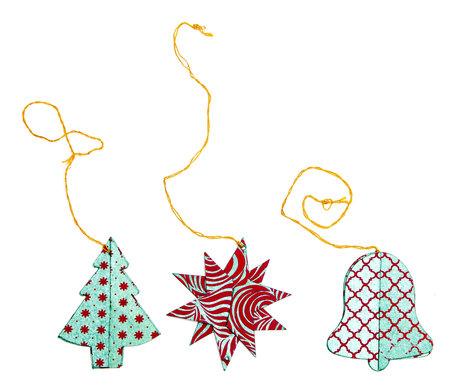 Kerst ornamenten (rood, blauw)