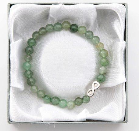 Infinity armband (Jade groen)