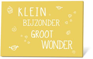 Klein Bijzonder Groot Wonder(zaden en een kaartje)