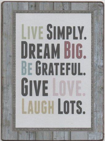 Bordje Live simply dream big