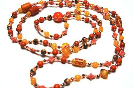 Vrolijke ketting Oranje/Geel