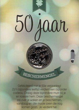 50 jaar (groen met geluksmunt)