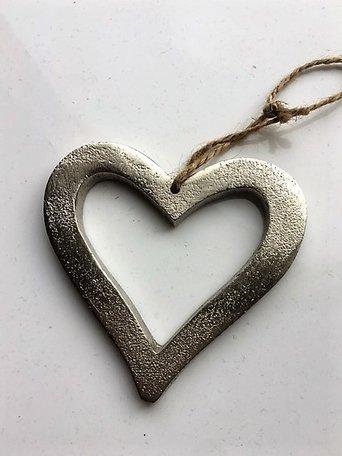 Metalen hart, hangend