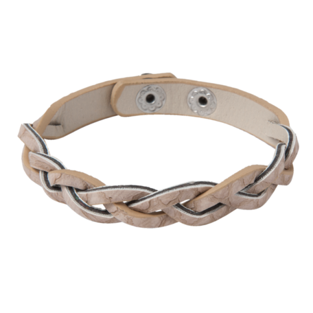 Armband braided beige