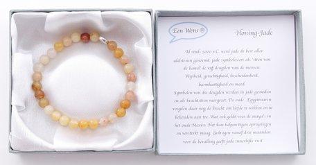 Armband edelsteen boedha(honing-Jade)