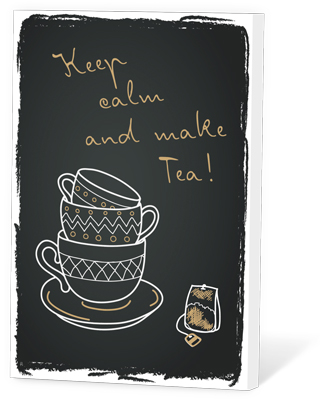 Keep calm and make tea (thee en een kaartje)