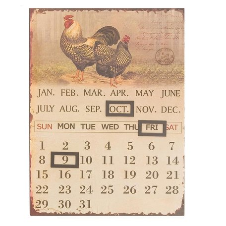 Kalender ijzer kip