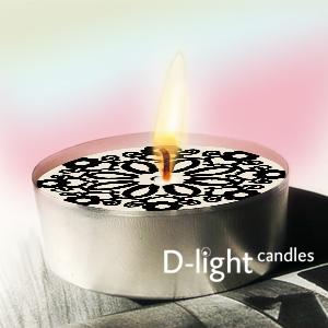 Zwart/Wit Waxinelichtjes
