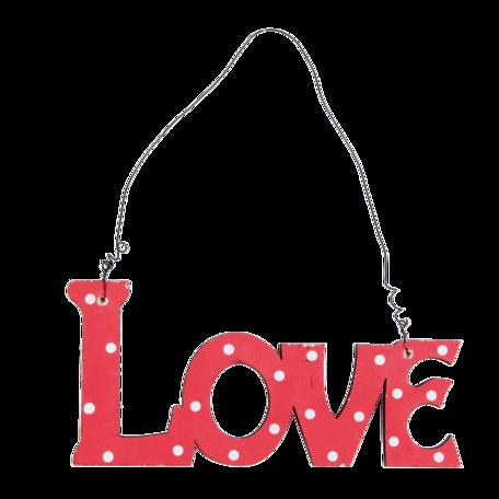Love, houten hanger rood