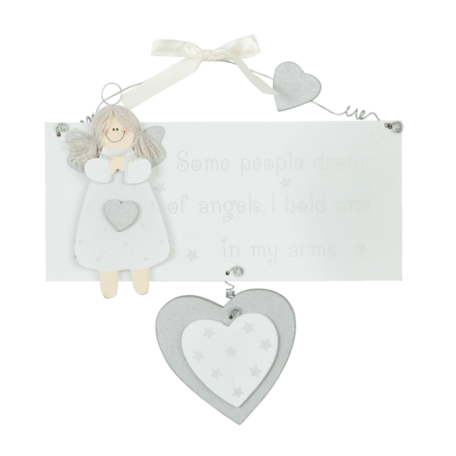 Houten bordje baby dream of angels
