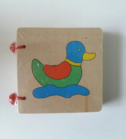 Prentenboek van hout, dieren