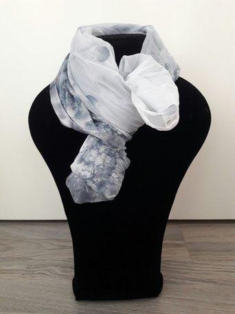 Sjaal grijs/blauw