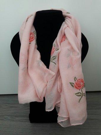 Sjaal met roos