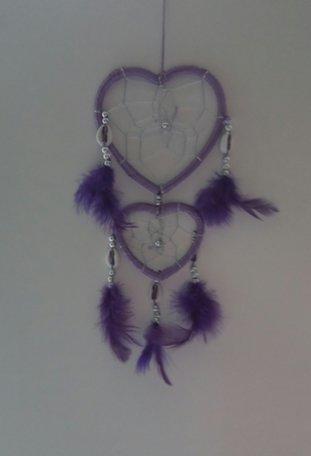 Dromenvanger hart (paars)