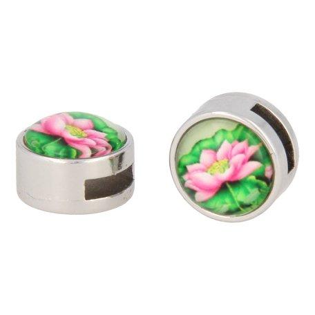 Schuiver bloemenprint roze bloem