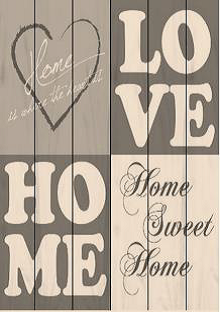 Bordje, Love, home sweet home