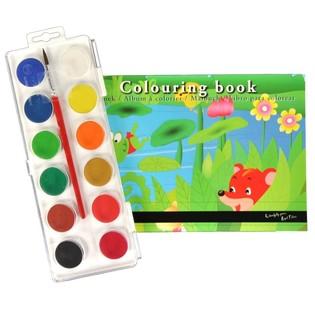 Kleurboek met waterverf