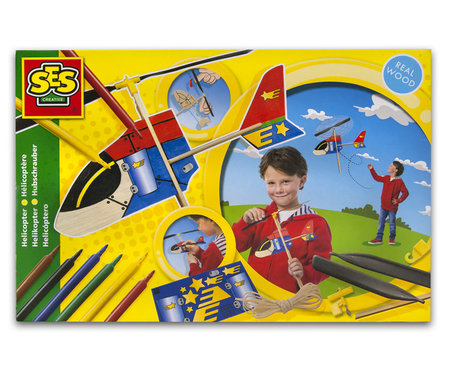 Ses houten helicopter