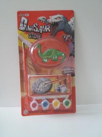 Gips dinosaurus verven