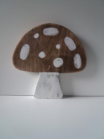 Paddenstoel van hout (20 cm)