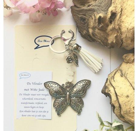 Vlinder wit Jade