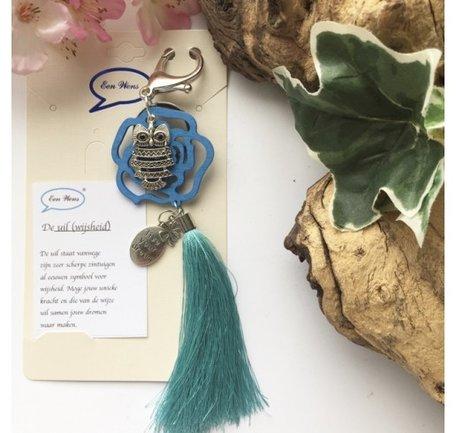 De uil  (turquoise)