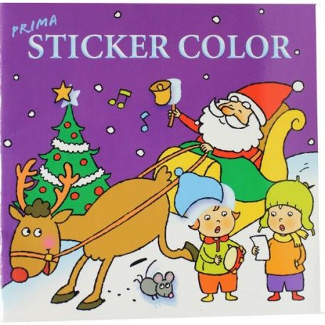Sticker en kleurboek voor de kerst