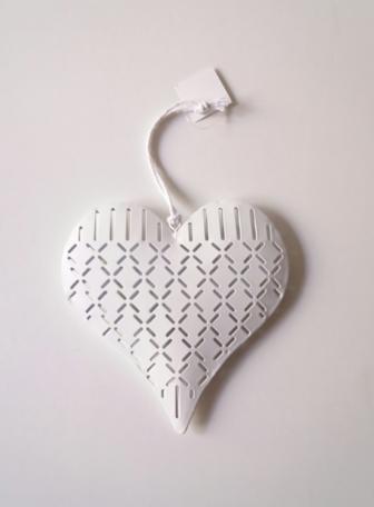 Metalen hanger hart