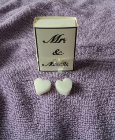 mr & mrs (doosje met zeepjes)