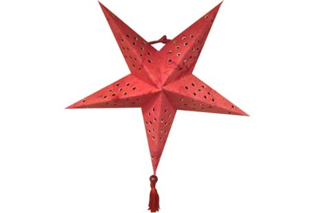 Kerstster van papier (rood)