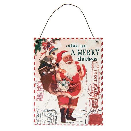 Schilderij kerstman van metaal
