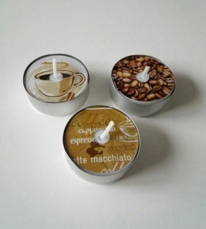 Koffie waxinelichtjes