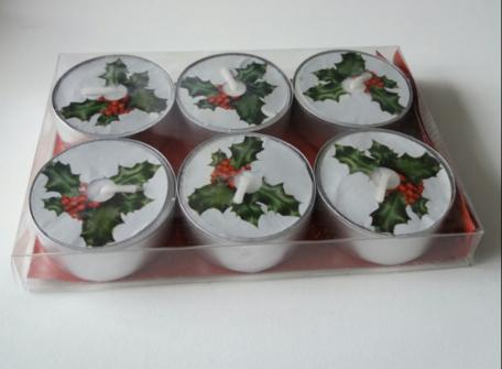 Kersttakje waxinelichtjes