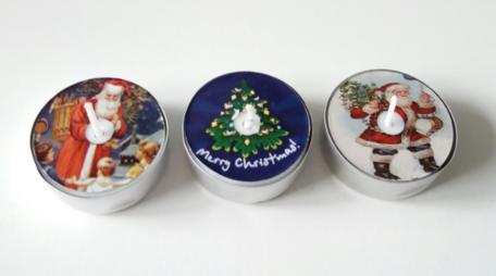 Kerst mix nostalgisch waxinelichtjes