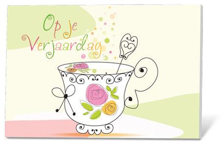 Op je verjaardag (thee en een kaartje)