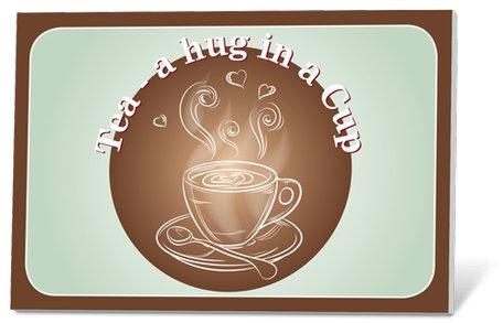 Tea a hug in a Cup (thee en een kaartje)