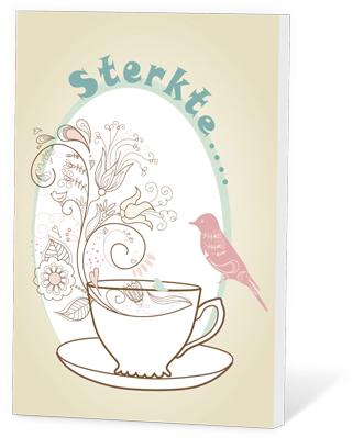 Sterkte (thee en een kaartje)