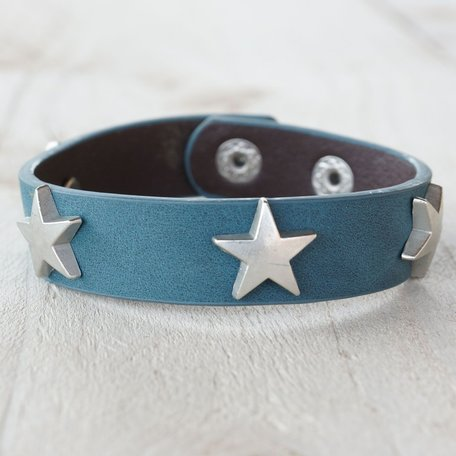 Armband blauw met ster