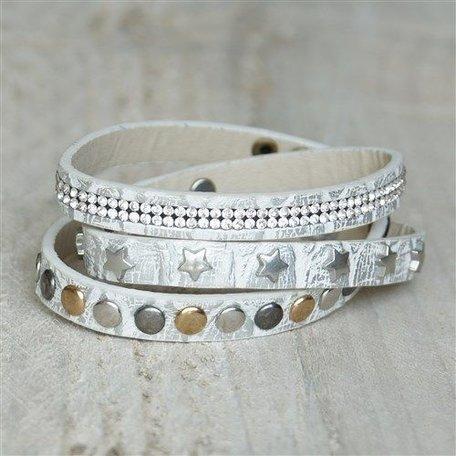 Armband zilver met studs