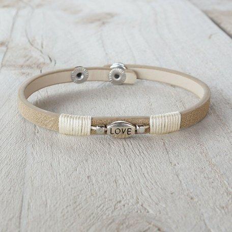 Armband beige love
