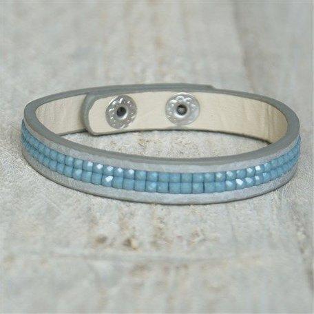 Armband blauw met drukknopen