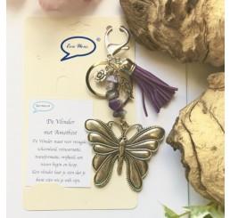 Vlinder met Amethist