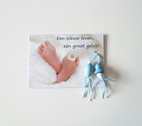 Een nieuw leven een groot geluk (jongen) kaartje