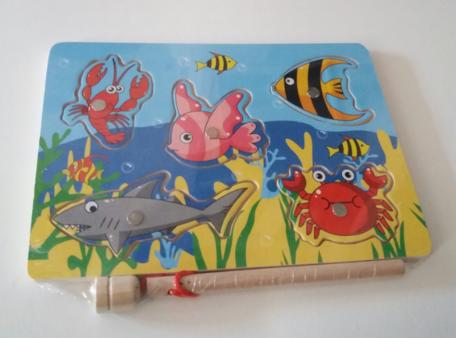 Puzzel visspel met magneet