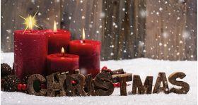 Waxine cover kerst (kaarsen)