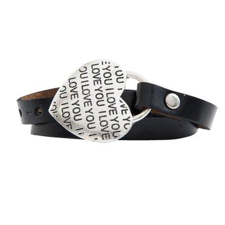 Zwarte armband, i love you