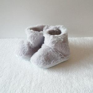 Booties voor baby, grijs maat 16-17