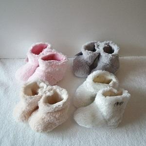 Booties voor baby, roze maat 18-19