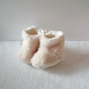 Booties voor baby, off white maat 16-17