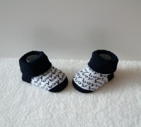 Baby sokjes boy zwart/wit